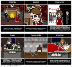 A common activity for students is to create a plot diagram of the events from a story. Not only is this a great way to teach the parts of a plot, but to reinforce major events and help students develop greater understanding of literary structures. View the full teacher guide here: https://www.pinterest.com/storyboardthat/the-birthmark/