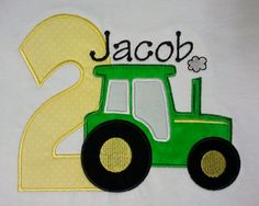 Birthday Tractor Applique TShirt by StitchingABlessing on Etsy, $20.00