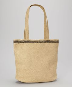 e4204f1c47c3 Take a look at this Natural Leopard Tote by Boardwalk Style on  zulily  today!