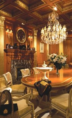 Gorgeous dining room, furniture for luxury homes of the world, available at Harrods by Clive Christian