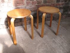 Danish Alvar Aalto stools (No:64) low #quality #danish #aalto #organic #fittogether #furniturefindingservice #vintage #retro #euvintage