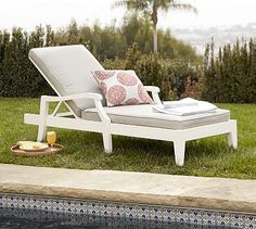 Hampstead Painted Single Chaise - White #potterybarn