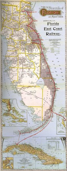 Henry Flagler's dream, the Over-Sea railway, came true 100 years ago, connecting Miami to Key West.not been to Key West and would love to go. Florida East Coast, Key West Florida, Florida Keys, Vintage Florida, Old Florida, Florida Usa, Florida Sunshine, Sunshine State, Cuba