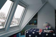 | De BASkapel Dormer Windows, Attic Stairs, Attic Rooms, Skylight, Home Projects, Toddler Bed, Ramen, Kids Rugs, Indoor