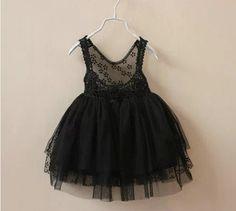 Charismatic Black Lace Dress -babydress Size: 2-3 years 3-4 years ...