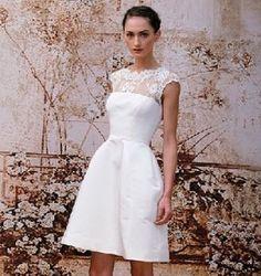 Vestido novia corto 2