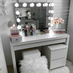 Excellent Pic What a Powerhouse COMBO 👊👊 . IKEA Malm dressing table with the IKEA Malm C. Strategies In many dormitories Ikea bedrooms are happy to be viewed, as they provide numerous solutions for a a Ikea Bedroom, Room Ideas Bedroom, Bedroom Storage, Bedroom Decor, Master Bedroom, Budget Bedroom, Cute Room Decor, Teen Room Decor, Ikea Malm Dressing Table