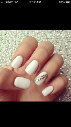 white with some sparkly sass.