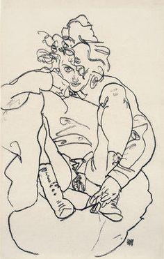 Egon Schiele, Woman in Boots with Raised Skirt, 1918 bellamaniera   Egon Schiele : The Radical Nude au Courtauld Institute