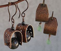 Earrings Two Way Instructor: Kat Clark Workshop Fee:  $35 Wednesday, August 31 (6-9pm) Learn a fun metal technique with sheet metal to create earring blanks for hoops and saddle drops. Texture plays a big role in these earrings and the possibilities are limitless. Lightweight beads are recommended for the saddle drop earrings. Previous metal working experience is helpful but not required. Materials list.