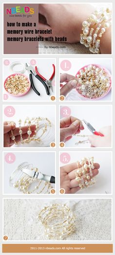 how to make a memory wire bracelet-memory bracelets with beads