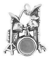 Drum Kit Sterling Silver Charm