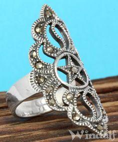 Mittelalterlicher Ring Talua mit Pentagramm Silber - Ringe mit Steinen - Windalf