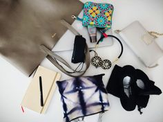 Work bag essentials, and how to organize them.
