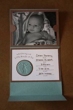 Inside Birth Announcement