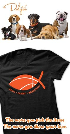 Faith.Family.Basketball by Play4Jesus. Show the world who you shoot, pass and dunk for!!! Variety of colors in men, ladies and hoodies!!! Like us on Facebook.