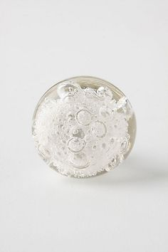 Bubbled Glass Knob #anthropologie