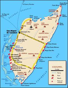 mayan ruins in cozumel | COZUMEL , 12 miles off the intriguing Yucatan Peninsula in Caribbean ...
