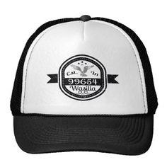 127ba1c21112a  Established In 99654 Wasilla Trucker Hat -  custom  cool White Shop