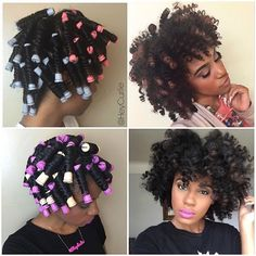 Perm Rod Set On Dry Natural Hair