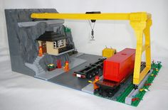 MOC: Mountain road and rail cargo station - LEGO Train Tech ...