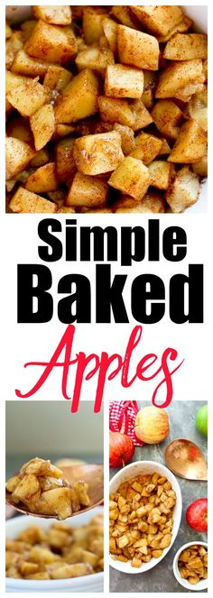 Simple Baked Apples Recipe. Great fall recipe, healthy side dish, super kid-friendly #vegan #gluten-free #kidfood #toddlerfood
