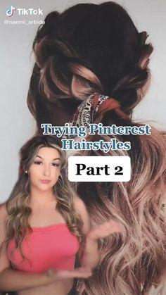 Wavy Hairstyles Tutorial, Curly Hair Tutorial, Easy Hairstyles For Long Hair, Long Curly Hair, Cute Hairstyles, Easy Homecoming Hairstyles, Greasy Hair Hairstyles, Ponytail Hairstyles, Hair Streaks