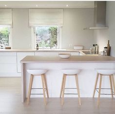 #Kitchen #Interior #White #Apartment #House