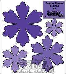 Crealies Creative Flowers no. 23 (Tanja)