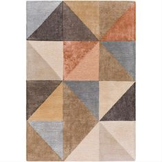 The simplistic yet compelling rugs from the SR211 Collection effortlessly serve as the exemplar representation of modern decor. With their hand tufted construction, these rugs offer an affordable alternative to other handmade constructions while perserving the same natural demeanor and charm. Made with Viscose, Wool in India, and has Medium Pile. Hand Tufted Rugs, Geometric Rug, Rooms Home Decor, Accent Furniture, Beautiful Hands, Modern Decor, Accent Decor, Home Furnishings, Home Accessories
