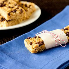 Chewy Chocolate Chip Granola Bars: Add coconut, sunflower seeds, use 1/2 coconut oil.