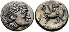 """Danubian Celts, Unknown Tribe, Tetradrachm imitating Philip II W. Kubitschek, """"Ein Fund keltischer Münzen aus Kroisbach,"""" NZ 43 (1910), pl. 5, 2 (same dies) Lanz 743 KMW 1391 CCCBM I 154; Göbl, OTA, 469"""