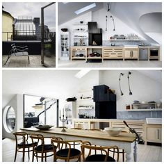 Wabi Sabi Art + Design from a Scandinavian perspective Natural elegance Scandinavian modern Harmonious style Creative spaces Clever DIY Tutorial Scandinavian Kitchen, Scandinavian Interior Design, Scandinavian Modern, Loft Kitchen, Apartment Kitchen, Open Kitchen, Stockholm Apartment, Scandinavia Design, Dining Room Inspiration