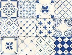 Portuguese style... blue and white tiles                                                                                                                                                                                 Más