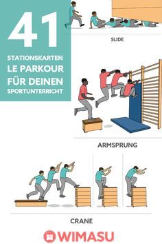 cards for le parkour Ideal for education Many times Parkour Moves, Parkour Sport, Parkour Workout, Kickboxing Workout, School Sports, Kids Sports, Spartan Challenge, Fbi Training, Climbing Workout