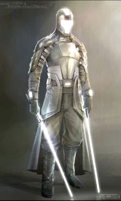 SW Force Unleashed II - Experimental Jedi Armor Concept by imzadialpha-d3292al