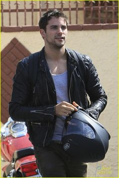 Brant Daugherty: Looking Out For Corbin Bleu: Photo Brant Daugherty arrives for Dancing With The Stars practice at the dance studio in Los Angeles on Thursday afternoon (September The actor recently… Bad Boys, Brant Daugherty, Leather Men, Leather Jacket, Biker Leather, Columbia, Ohio, Attractive Men, Pretty Little Liars