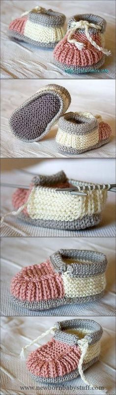 Baby Knitting Patterns 40 + Knit Baby Booties with Pattern - ...