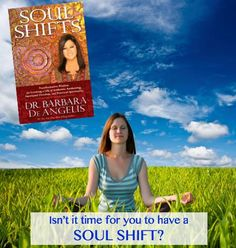 """GREAT NEW BOOK REVIEW from one of my readers and students, Abraham Woods: """"The best book ever: SOUL SHIFTS! With this guide, the 21st century is yours. If you haven't read this book, then stop and get it today."""" Are you ready for a big shift? Learn more about how you too can transform from the inside out: http://www.amazon.com/Soul-Shifts-Transformative-Authentic-Spirituality/dp/1401944426"""