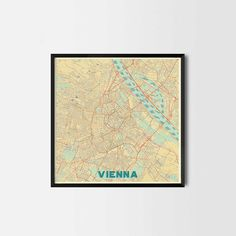 Vienna City Prints - Art posters and map prints of your favorite city. Unique design of a map. Perfect for your house and office or as a gift.