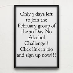 Go! Go! Go! I DARE you to go without alcohol in February!! Click the link in my bio now and sign up and let's do this thing. Have you got what it takes? Are you sick of being a slave to alcohol? Are you sick and tired of feeling tired from drinking? Do you want to save money? Then sign up to the 30 Day No Alcohol Challenge NOW. Tag 2 friends now who may want to do it with you. Do you want a kick up the ass so you finally take action? THEN STOP WHINING AND START WINNING!!!! It all starts… Stop Whining, Alcohol Quotes, I Dare You, What It Takes, Feel Tired, 30 Day, Dares, Saving Money, Sick