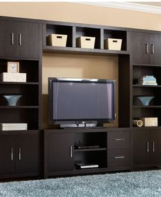 Stockholm Entertainment Collection - Media Storage Furniture - furniture - Macy's