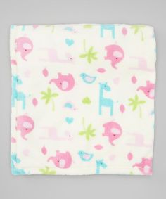 Take a look at this Pink Safari Velboa Receiving Blanket by Baby Gear on #zulily today!
