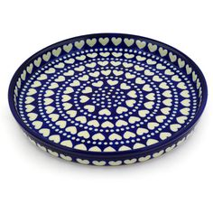 Polish Pottery 10-inch Cookie Platter | Boleslawiec Stoneware | Polmedia H4170D | Polmedia