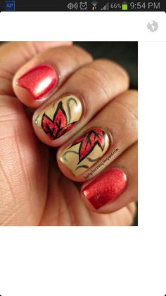 Fall nails - just prettier leaves.