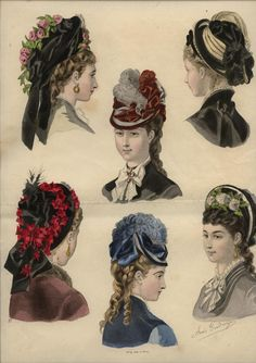 1875 ... LA MODE ILLUSTREE engraving