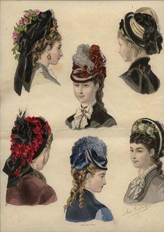 1875 ... LA MODE ILLUSTREE engraving