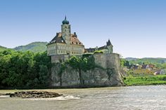 On the Danube River in Austria. Austria is known for gorgeous, old castles built on lakesides and riversides. Overseas Travel, Cruise Travel, Bulgaria, Budapest, The Places Youll Go, Places To Visit, Danube River Cruise, Historia Natural, Black Sea