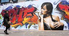 Paris Tonkar magazine // Graffiti and Street art: Présentation du TWE crew 3d Street Art, Amazing Street Art, Street Art Graffiti, Spiderman Ps4 Wallpaper, Gangsta Tattoos, Farm Art, Graffiti Styles, People Art, Sexy Hot Girls