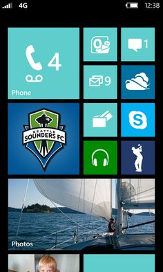 The new Start sceen in Windows Phone 8 is even more flexible, with more theme colors and three sizes of Live Tiles.
